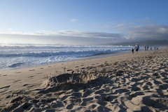 Clinging to summer in the fall... (cjuel) Tags: california beach halfmoonbay thechallengefactory