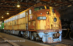 MILW 37A-001 (Chris Skrundz) Tags: road railroad chicago museum train illinois day power diesel union engine railway event milwaukee rails commuter locomotive showcase members e9 the