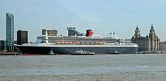 maritime royalty (midcheshireman) Tags: ferry liverpool river marine ship maritime cruiseship queenmary2 cunard mersey merseyside royaliris vision:beach=0706