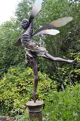 George Henry Paulin (1888-1962) - Anna Pavlova (after 1931 -q-) left, garden of Ivy House, Golders Green, London (now the Jewish Cultural Centre) May 2013 (ketrin1407) Tags: sculpture ballet statue bronze dance sensual fairy 20thcentury goldersgreen annapavlova georgehenrypaulin jewishculturalcentre
