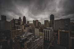 Detroit City (Jamie Betts Photo) Tags: city building rooftop skyline clouds skyscraper buildings nikon cityscape skyscrapers cloudy detroit explore urbanexploration exploration metropolitan cloudporn urbanlandscape urbex metropolitanbuilding detroiturbex skyporn urbexing nikkor1424mm28 jamiebettsphoto nikond800e