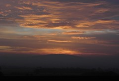 Sunrise over the Wrekin (rockwolf) Tags: sky sun clouds sunrise colours shropshire hills wrekin rockwolf