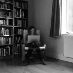Week 37 (ronet) Tags: selfportrait film mediumformat blackwhite scan pinhole hasselblad scanned hasselblad500cm ilforddelta100 52weeks ronet diydeveloped