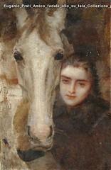 Eugenio Prati Amico fedele olio su tela Collezione privata