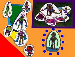 Assorted Creatures, Set 4 (Moleman9000) Tags: plant animal animals monster angel colorful drawing small alien large aliens beast species monsters aquatic creatures creature biology figures parasite humanoid bestiary