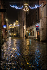 rainy streets, Krakow (bevscwelsh) Tags: street rain night poland krakow sonynex6 sonye35mm