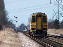 158843-2 Broomfleet 02-02-14 (panmanstan) Tags: train yorkshire railway passenger hull humberside northernrail class158 permanentway