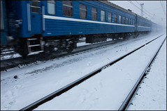 *** (dmitry_ryzhkov) Tags: life street city railroad blue winter people urban snow motion colour public station digital train walking photography photo shot photos russia moscow candid sony picture documentary social pic scene terminal moment society dmitry kto ryzhkov slta77 dmitryryzhkov dmitryryzhkovcom