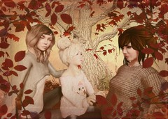 Mary Momma and Mimm 1 (Aianna Oh ~[Aianna Photography]~) Tags: family portrait woman cute girl female child edited mary gimp secondlife momma ziggy virtualphotography mimm