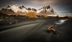 [ ... all that remains ] (D-P Photography) Tags: mountain snow black beach canon island iceland sand nd ash austurland vestrahorn ndgrad leefilters dpphotography klifatindur
