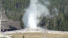Old Faithful Geyser eruption (6.46-6.50 PM, 7 August 2013) 3 (James St. John) Tags: old hot video spring group basin upper springs yellowstone wyoming geology geyser videos oldfaithfulgeyser faithful geysers upper old hot spring group springs basin
