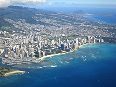 Oahu, Hawaii (LAXFlyer) Tags: hawaii climb airport view oahu aerial honolulu takeoff hnl