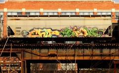 CHIP7 & SIGH (BLACK VOMIT) Tags: car train graffiti ol south grain 7 dirty dos crew sigh chip mayhem hopper freight cru cbs chip7 grainer dkult