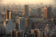 Taipei Buildings at Sunset (andreaskoeberl) Tags: city houses sunset urban orange yellow skyline buildings gold haze nikon asia apartments cityscape horizon taiwan tele taipei depth goldenhour drc d800 200mm 70200f28 elephantmountain nikond800 n70200 70200f28vrii
