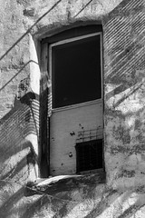 Flagstaff (Karl D Scheller) Tags: door arizona blackandwhite window stairwell flagstaff fireescape