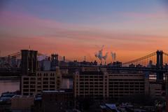 Watchtower Buildings (@TheKnollGuy) Tags: morning bridge sky orange monument 30 brooklyn sunrise early manhattan columbia 25 brooklynbridge manhattanbridge heights watchtower