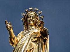Domnis (J.Salmoral) Tags: france statue frankreich cathedral catedral frança virgin frankrijk notre dame avignon estatua francia virgen francie cathedrale doms frankrike fransa vierge فرانسه 프랑스 francja franciaország francuska франция فرنسا francë γαλλία