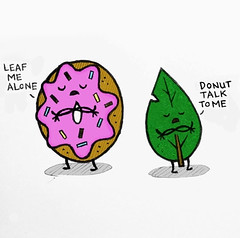 funny-donut-leaf-pun (BrainofJT) Tags: silly funny lol memes puns pundamentals