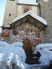 Riva Valdobbia (Vc) (fulvio timossi) Tags: winter mountain snow italia hiver chiesa campanile piemonte neve inverno alpi montagna affresco sanmichele valsesia giudiziouniversale artereligiosa civiltalpina fratellideenricis