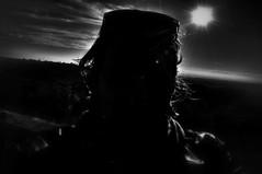 backlit (pat.netwalk) Tags: bw contrast dark backlit selfie copyrightbypatwwwnetwalkch vision:mountain=0685 vision:sunset=0579 vision:sky=0876 vision:clouds=0744