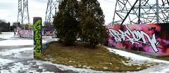 quickage-DSC_0111-DSC_0113 v2 (collations) Tags: ontario graffiti bacon globe gh ghcrew