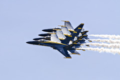 Blue Angels: Close Friends (Bryan S. Lawler Motion & Still Photography) Tags: travel people urban nature photographer artistic navy stlouis documentary lifestyle environmental event marines hornet f18 blueangels flightdemonstration stillphotographer aerobaticmaneuvers bryanlawler bryanslawler chasingdaylightproductions kenkoteleconverters bryanlawlercom motionphotographer highperformancemaneuvers