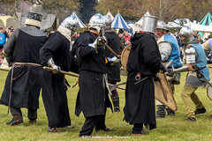 [2014-04-19@15.16.31a] (Untempered Photography) Tags: history costume fight helmet battle medieval weapon knight shield combat armour reenactment skirmish combatant chainmail spear canonef50mmf14 perioddress polearm platearmour gambeson poleweapon mailarmour untemperedeye canoneos5dmkiii untemperedeyephotography glastonburymedievalfayre2014