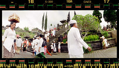 Religious Rush (tsiklonaut) Tags: camera panorama color film analog 35mm indonesia religious temple fuji place drum superia horizon religion tube panoramic scan holy negative gifts gift 200 sacred gods roll analogue 135 hindu hinduism besakih  pura 202 hunt analogica c41 xpress  drumscan analoog  pmt  hindus indoneesia    photomultiplier