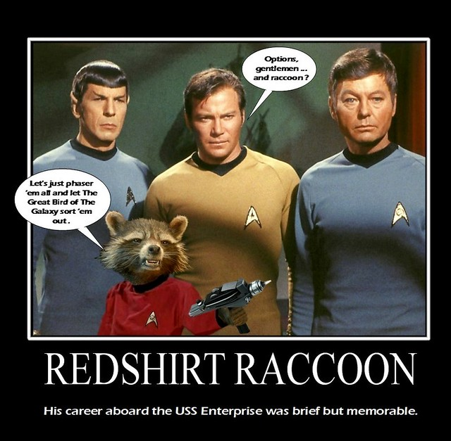 STAR TREK with RedShirt Rocket Raccoon