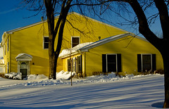 Yellow House in the Snow_MG_3344 (www.cemillerphotography.com) Tags: winter storm cold illinois aftermath midwest sundown sunny clear icy blizzard frigid drifts