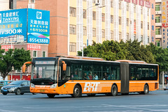 BRT长巴士/Long Bus of BRT (KAMEERU) Tags: guangzhou bus public transportation articulated brt zk6180hlgaa