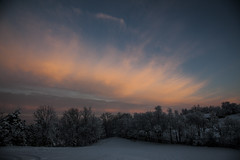 First snow of the Year 2015 (Klaus Ficker) Tags: winter usa snow cold clouds sunrise canon kentucky eos5dmarkii kentuckyphotography klausficker year2015