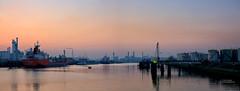 2th Petrol Harbor (Peet de Rouw) Tags: panorama holland industry rotterdam dusk shell bluehour refinery botlek pernis portofrotterdam petroleumhaven rotterdamsehaven denachtdienst vondelingenplaat canon5dmarkiii peetderouw