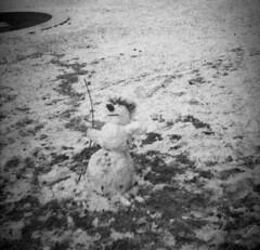 Altix I - Snowman 2 (Kojotisko) Tags: bw brno creativecommons vintagecamera czechrepublic altix fomapan200 fomapan200creative altixi altix1