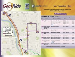 Mineral And Fossil Loop <<>> Gem Ride <<>> Tucson's 2015 Gem Show Shuttle Map (chicbee04) Tags: photostream