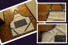 Avental Ana (ceciliamezzomo) Tags: dog white black print labrador heart handmade country apron leopard cachorro button jules patchwork avental oncinha