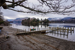 Derwentwater on a bitterly cold day in February - Explored (alsimages1 - Thank you for 860.000 PAGE VIEWS) Tags: panorama lake snow mountains water creek forest river walking landscape countryside scenery stream sailing view hiking background scene explore climbing views land backdrop setting tarn footpath keswick freshwater splendour gorgeousness attractiveness magnificence