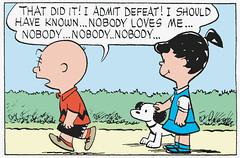 Nobody loves me (Tom Simpson) Tags: illustration vintage comics peanuts 1950s comicstrip charliebrown 1953 charlesmschulz newspapercomics