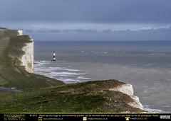 Beachy Head's New Lighthouse (andrewtijou) Tags: uk england lighthouse storm sussex europe waves unitedkingdom gale cliffs sevensisters beachyhead birlinggap crashingwaves roughseas andrewtijounikond7000