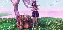 Woodland Queen (Bella Elephante & //elephante poses//) Tags: friday alchemy spellbound maitreya slink halfdeer tresblah studioskye luxebox