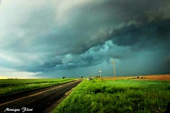 Green skies (moniquef123) Tags: sky storm green oklahoma nature weather clouds rural landscape countryside thunderstorm weatherphotography therebeastormabrewin
