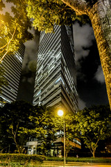 Singapore Highrise 2 (Bobinstow2010) Tags: park street building night lights high singapore multistory