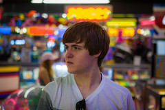 Arcade (Evan's Life Through The Lens) Tags: camera blue friends 2 summer vacation two sky orange hot color green beach home glass beautiful grass weather canon lens fun nice day bright zoom mark walk vibrant wide sunny adventure explore ii 5d f28 2016 2470mm