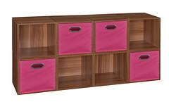 PC8PKWC4TOTEPK (Find My Niche) Tags: pink home closet niche bookshelf storage canvas organizer fabric modular cube custom organization tote cubo nightstand multipurpose expandable customizable multiuse mediastorage homestorage openstorage pc1211 canvasbin warmcherry pc8pkwc cubestorage htote htotepk htote4pkpk