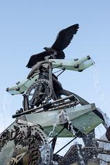 Eagle Fountain (G. Starr) Tags: clock water fountain nikon eagle sydney hornsby feature steampunk d7200