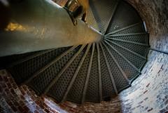 Look up (~gio~) Tags: ocean above light lighthouse brick beach up stairs spiral walk sandyhook upward