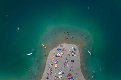Enjoyment (Aerial Photography) Tags: summer people lake sport by see mood schwimmen sommer menschen swimmer leisure freizeit schwimmer sta stimmung baggersee sonnenbad obb hitze badesee badegste gilching 17072006 schwimmsport badegast 5d010542 rottenriederstrase