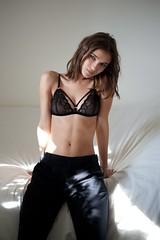 Paula (LCKP) Tags: sexy beauty nude model eyes natural underwear body bra lingerie mysterious torso casual brunette