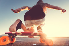 Outdoor & Sport (MaxMeissner) Tags: road street sunset sport speed outdoor longboard skateboard lensflair longboarding skatebording shortdeck