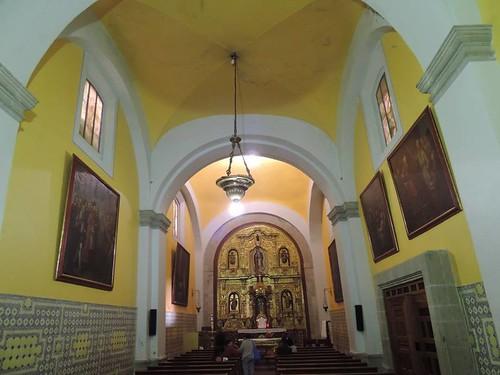 Interior de la Capilla de San Francisco Javier, Parroquia de la Santa Veracruz, Centros Histórico, Cdad. de México, CDMX.